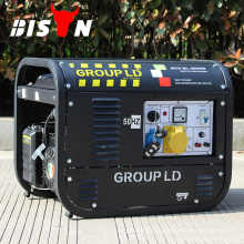 BISON CHINA Swiss Kraft 6.5kw ahorro de combustible 380V Generador de gasolina de tres fases, manual de generador de gasolina kraft suizo