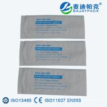 Sachet plat de bobine de stérilisation médicale de cachetage de la chaleur dans la taille différente
