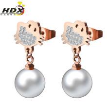 Серьги перлы способа ювелирных изделий нержавеющей стали (hdx1125)