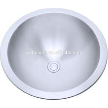 304 Edelstahl-runde Badezimmer-Waschbecken, Toilette sinkt