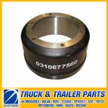 Pièces de remorque du tambour de frein 0310677560 pour BPW