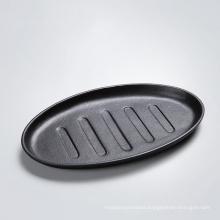 Cast Iron Cookware Sizzler/Fajita Serving/Steak Plate/Pan with Handle