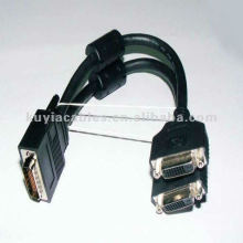 59pin DVI Splitter Cable to split the video signal from your DMS-59 DVI video output to two separate monitors