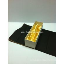 Бумажная коробка для упаковки водки с высоким качеством Sing Sing с сатином и закрытием магнита