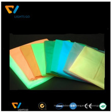 photoluminescent pigment yellow-green/glow in dark polyester fabric