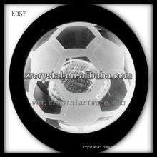 good quality crystal soccer crystal football K057