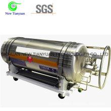 Liquid Nitrogen Liquid Cryogenic Cylinder Tanker with 195L Volume