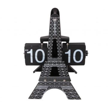 Mode Menara Eiffel Flip Clock on Table