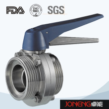 Ss Plastic Handle Threaded Sanitary Butterfly Valve (JN-BV1006)