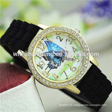 2015 new design 7 colors stock candy color jelly fancy wrist watch