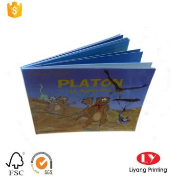 Impressão de livro de capa mole colorida para crianças
