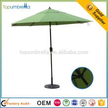 parapluie de patio de cadre en aluminium de grande qualité de café-restaurant