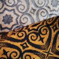 Tecido para cortina de malha de poliéster forro de jacquard