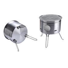 Barbecue pliable portatif pour le camping en plein air