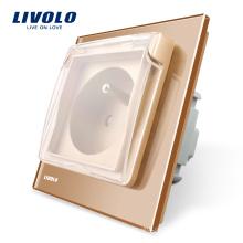 Livolo New Arrival Outlet Französische Standardsteckdose mit wasserdichter Abdeckung VL-C7-C1FRWF-13