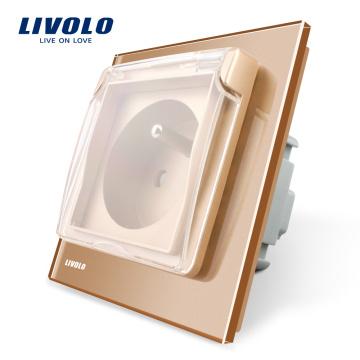 Prise de courant Livolo New Arrival Outlet, norme française, avec la protection étanche VL-C7-C1FRWF-13