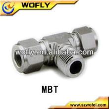 China Tubulação de aço inoxidável macho Branch T Tubo / Pipe Hidráulica Fittings