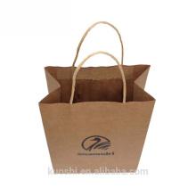 Neue Produkte braune Kraftpapiertasche mit Logoprint