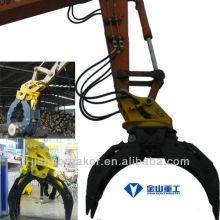 Grappin hydraulique KOBELCO SK200 SK210, grappin de fixation de pelle, grappin à bois