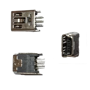 MINI USB 5P B Short Body Straight Dip