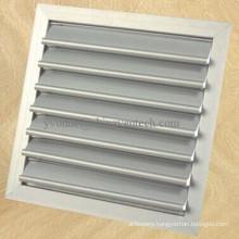HVAC Systems Ventilation White Color Aluminum Gravity Louvers