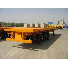 Load 30t Three Axles 20 Feet Container Semi Trailer