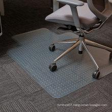 Gaming Chair Mat Rectangle Transparent Vinyl Chair Mat