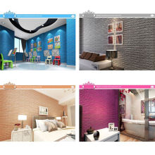 China Wholesale Home Decorative Wallpapers Wall Coating Paper 3D Self Adhesive Wall Stickers PE Wallpaper