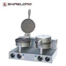 Furnotel Industrial Heart Shapes Waffle Baker Hierro personalizado