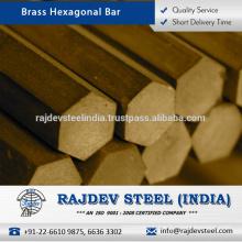 Fine Finish, Anti-Corrosive, Perfect Polish Brass Hexagonal Bar for Sale