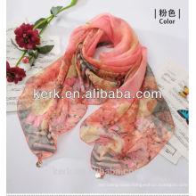 Latest Lady Fashion Custom-Made Promotion 100% polyester silk feel scarf,W3019
