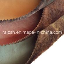 Lange Pile PU Leder Bonded Stoff für Warmfashion Kleidungsstück