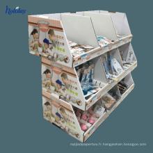 Affichage de palette de carton de haute qualité pour la bouteille d'eau, réutilisez le présentoir de palette de supermarché