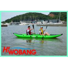 Caiaque de borracha inflável de alta qualidade, canoa Whitewater
