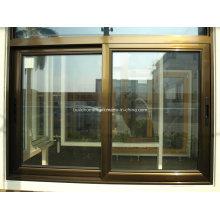 Südafrika gefällig gehärtetes Grau getöntes Glas Schiebetür Aluminiumfenster