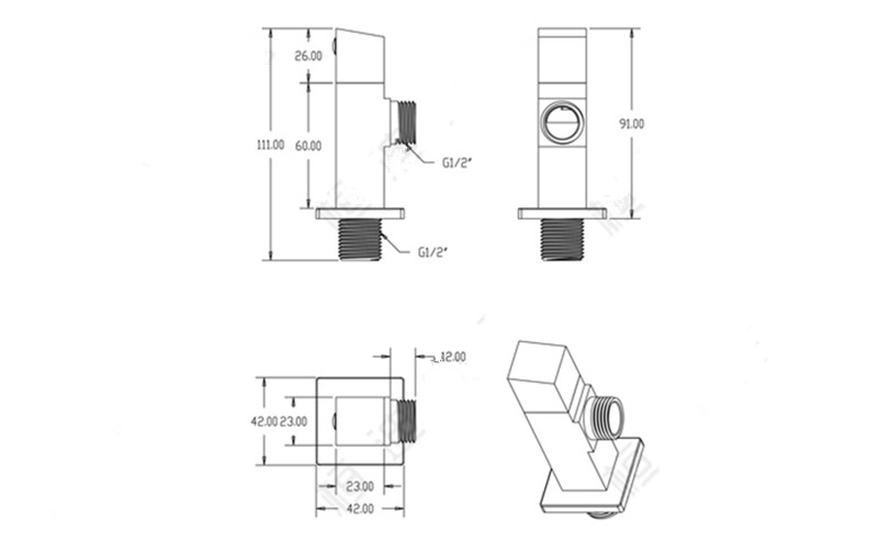 ANGLE VALVE FOR BATHROOMS