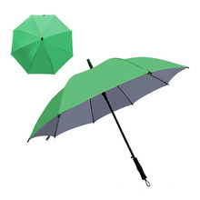 UV Protective Silver Coated Waterproof and Windproof Oversize Automatic Straight Golf Umbrella with Logo Printed