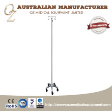 Used Hospital Furniture Height Adjustable Pole Drip Stand Stainless Steel Infusion Stand