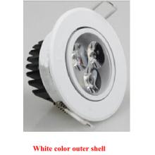 Color blanco Exterior Shell Epistar 2835SMD LED Dwn Light