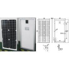 Модуль 18В 30 Вт 35 Вт Монокристаллический панели солнечных батарей электрическая система PV с одобренный CE