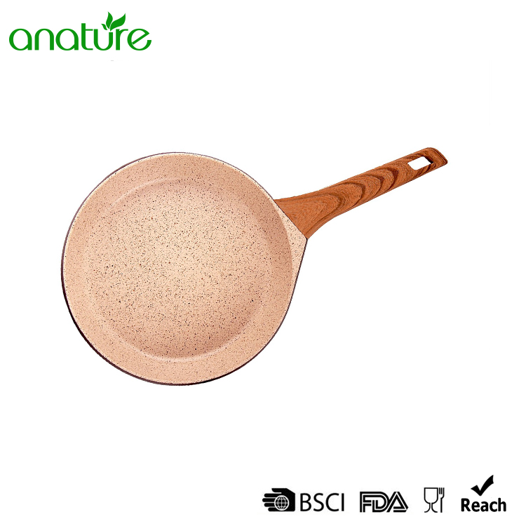 Red Wine Die Cast Aluminum Open Fry Pan