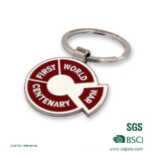 Customized Logo Soft Enamel Spin Key Chains for Gift