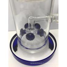 Pipes à fumer en verre avec cinq filtres uniques