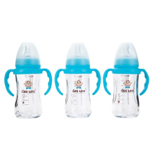 Anti-broken Wide Neck Safe Green Rubber Glass 16oz Baby Bottle