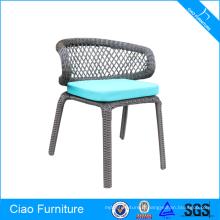 Chaise d'inclinaison en osier en plastique de meubles extérieurs