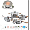 Stainless Steel Waterless Cookware Set Copper Core Bottom