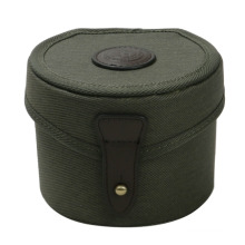 New Design Canvas and Genuine Leather fly Reel Case