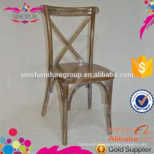 cross back wood chair