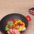 Küchenutensilien emailliert Großformat Wok