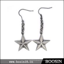 Boucle d'oreille Star Vintage Lucky Star Style Européen pour les femmes # 21596